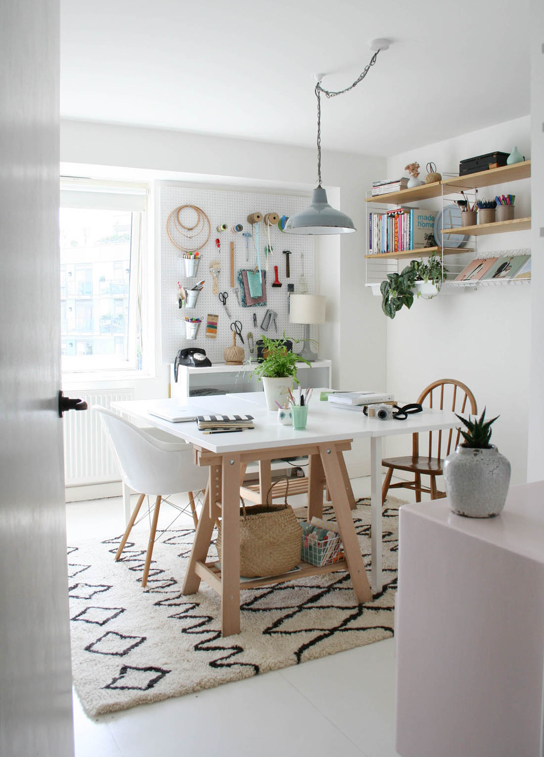 Dwell Berber rug | Home office | Apartment Apothecary