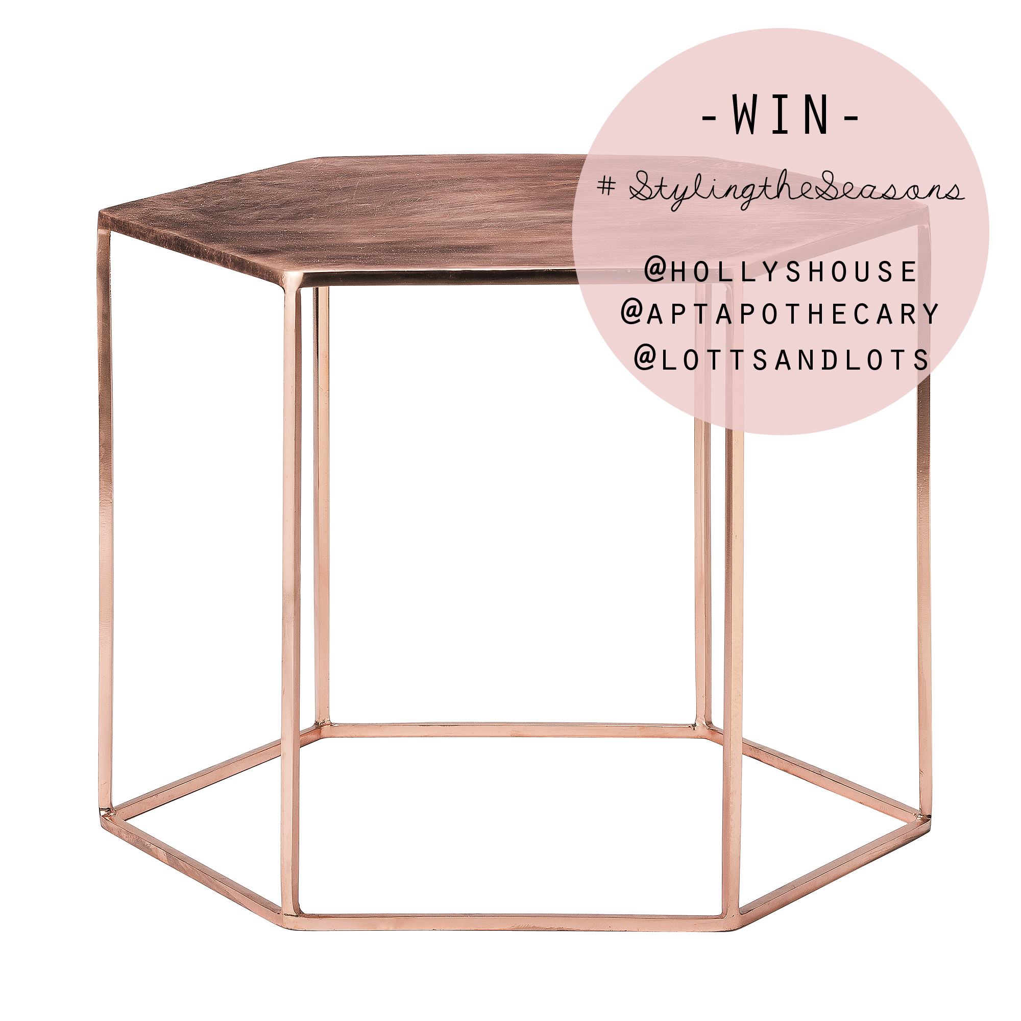 Copper hexagonal table | Holly's House