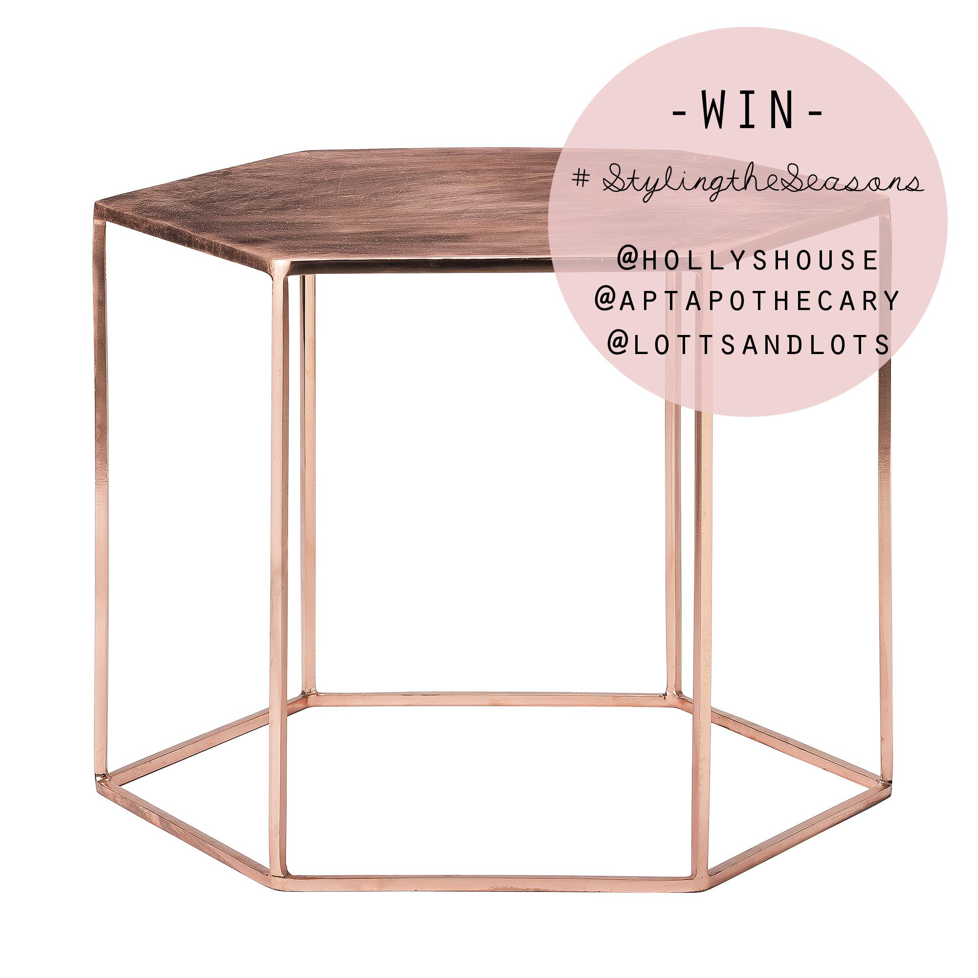 Copper hexagonal table | Holly's House