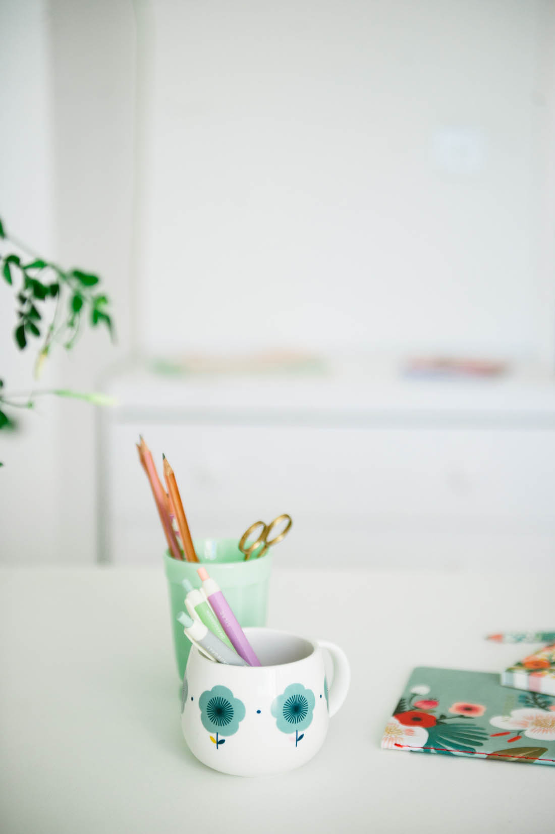 Scandi style work space | DIY home office |Photograph by katharinepeachey.co.uk | Apartment Apothecary