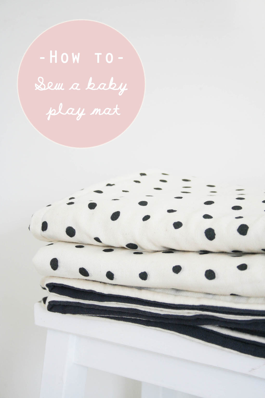 How to make a play mat for a baby | Sewing tutorial | Sewing project | Apartment Apothecary