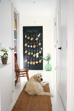 DIY advent calendar | Blackboard advent calendar | Christmas decorations from Houseology | Apartment Apothecary