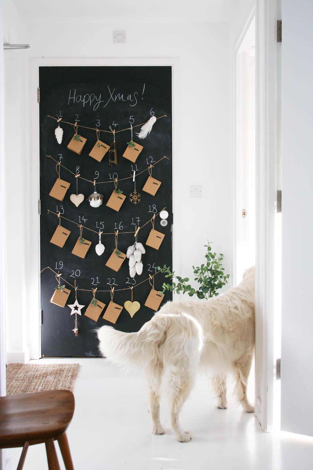 DIY advent calendar | Blackboard advent calendar | Christmas decorations from Houseology | Apartment Apothecary