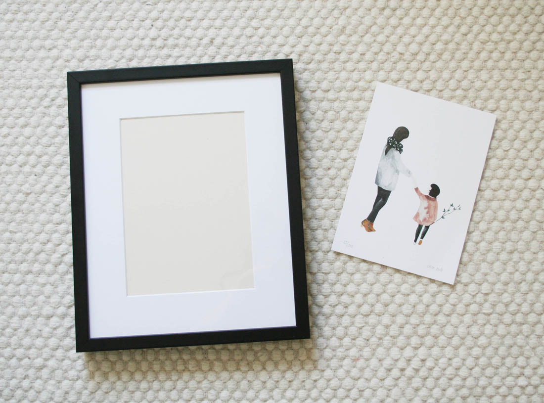 Bespoke handmade picture frames from King & McGaw | Nursery decor | Saar Manche print | Double Merrick print | Apartment Apothecary