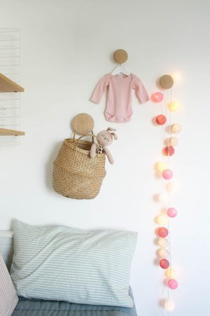 Nursery tour | Muuto Dots coat hooks and Cable and Cotton lights | Apartment Apothecary