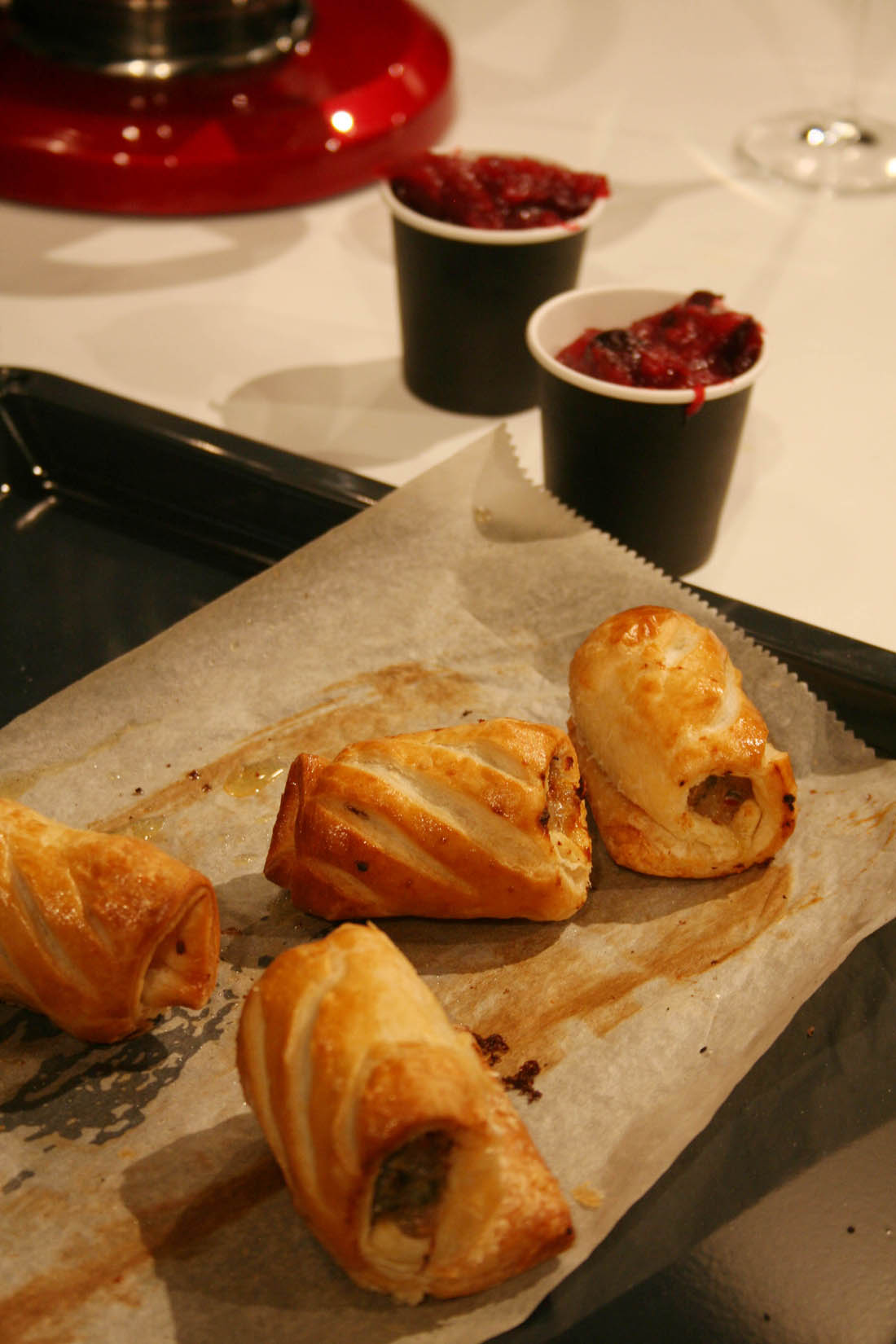 Festive baking with AEG spiced sausage rolls with cranberry chutney using the new AEG mastery range