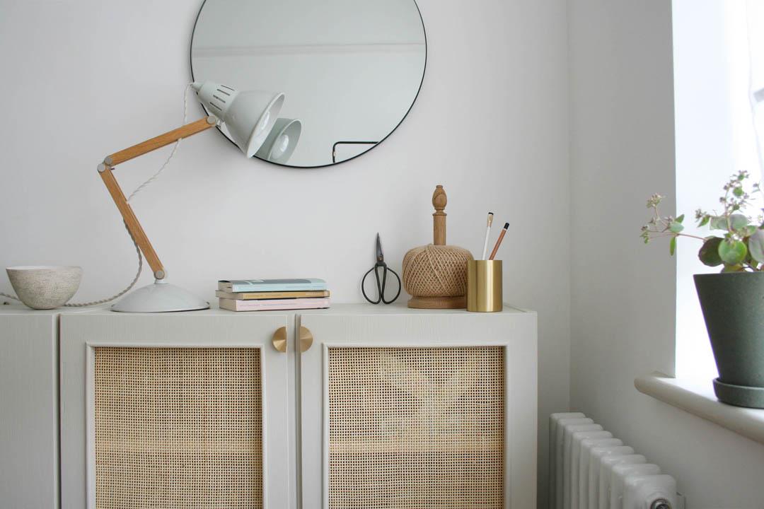 DIY cane panelled cupboard